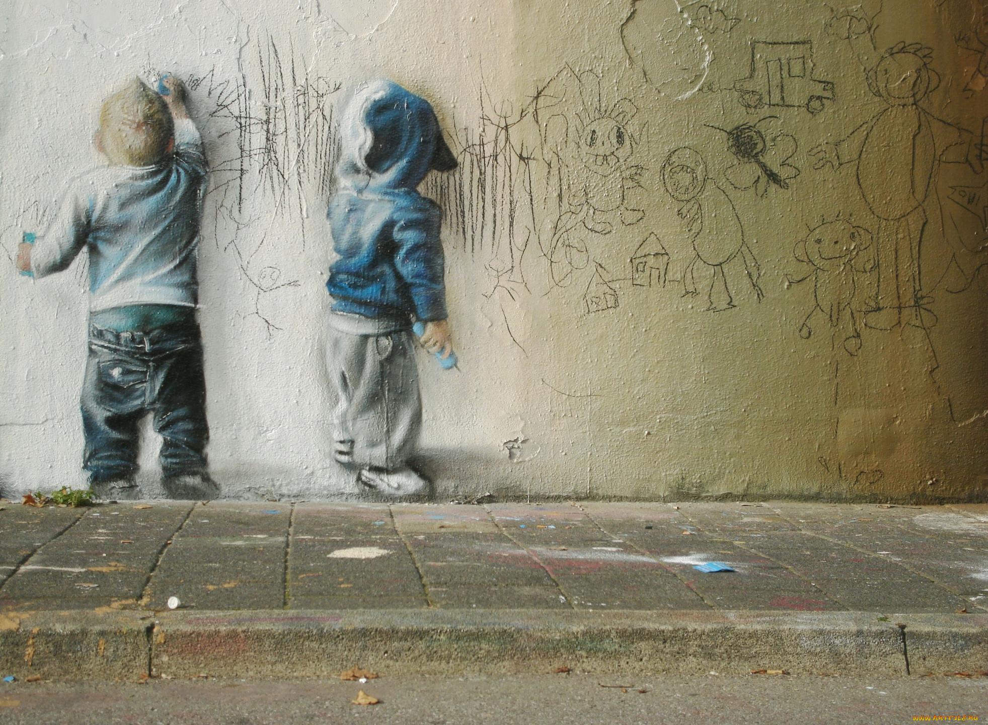 Разное граффити стена дети рисунок